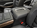 2019 GMC Yukon XL Denali, front center console with closed lid, from driver's side looking down