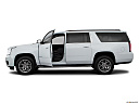 2019 GMC Yukon XL SLT, driver's side profile with drivers side door open.