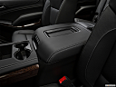 2019 GMC Yukon XL SLT, front center console with closed lid, from driver's side looking down