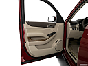 2019 GMC Yukon Denali, inside of driver's side open door, window open.