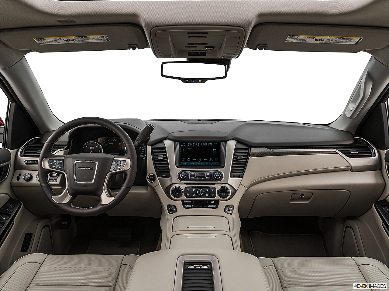 2019 GMC Yukon Denali, centered wide dash shot