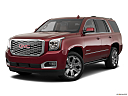 2019 GMC Yukon Denali, front angle medium view.