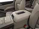 2019 GMC Yukon Denali, front center console with closed lid, from driver's side looking down