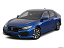 2019 Honda Civic Hatchback LX, front angle view.