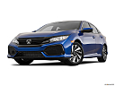 2019 Honda Civic Hatchback LX, front angle view, low wide perspective.