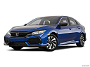 2019 Honda Civic Hatchback LX, front angle medium view.