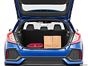 2019 Honda Civic Hatchback LX, trunk props.