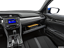 2019 Honda Civic Hatchback LX, glove box open.