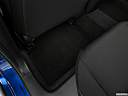 2019 Honda Civic Hatchback LX, rear driver's side floor mat. mid-seat level from outside looking in.