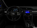 "2019 Honda Civic Hatchback LX, centered wide dash shot - ""night"" shot."