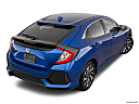 2019 Honda Civic Hatchback LX, rear 3/4 angle view.