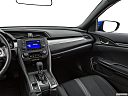 2019 Honda Civic Hatchback LX, center console/passenger side.