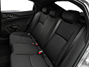 2019 Honda Civic Hatchback Sport, rear seats from drivers side.