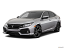 2019 Honda Civic Hatchback Sport, front angle medium view.