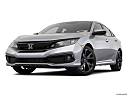 2019 Honda Civic Sport, front angle view, low wide perspective.