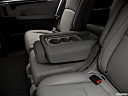 2019 Honda Odyssey Touring, rear center console with closed lid from driver's side looking down.