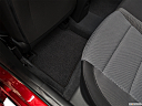 2019 Hyundai Accent Limited, rear driver's side floor mat. mid-seat level from outside looking in.