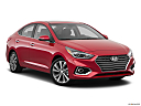 2019 Hyundai Accent Limited, front passenger 3/4 w/ wheels turned.