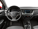 2019 Hyundai Accent Limited, steering wheel/center console.