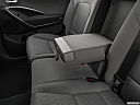 2019 Hyundai Santa FE XL SE, rear center console with closed lid from driver's side looking down.
