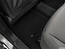 2019 Hyundai Santa FE XL SE, rear driver's side floor mat. mid-seat level from outside looking in.