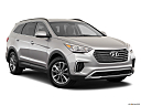 2019 Hyundai Santa FE XL SE, front passenger 3/4 w/ wheels turned.