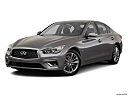 2019 Infiniti Q50 Luxe, front angle medium view.