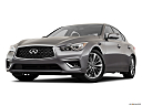 2019 Infiniti Q50 Luxe, front angle view, low wide perspective.