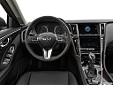 2019 Infiniti Q50 Luxe, steering wheel/center console.