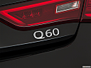 2019 Infiniti Q60 3.0t LUXE, rear model badge/emblem