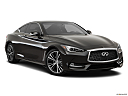 2019 Infiniti Q60 3.0t LUXE, front passenger 3/4 w/ wheels turned.