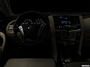 "2019 Infiniti QX80 Luxe 4WD, centered wide dash shot - ""night"" shot."