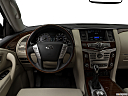 2019 Infiniti QX80 Luxe 4WD, steering wheel/center console.