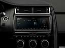 2019 Jaguar E-Pace S, closeup of radio head unit