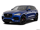 2019 Jaguar F-Pace S, front angle medium view.