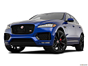 2019 Jaguar F-Pace S, front angle view, low wide perspective.