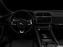 "2019 Jaguar F-Pace S, centered wide dash shot - ""night"" shot."