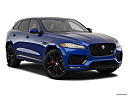 2019 Jaguar F-Pace S, front passenger 3/4 w/ wheels turned.