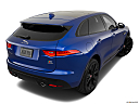 2019 Jaguar F-Pace S, rear 3/4 angle view.