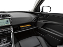 2019 Jaguar XE 25t Premium, glove box open.