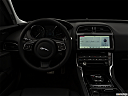 "2019 Jaguar XE 25t Premium, centered wide dash shot - ""night"" shot."