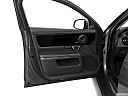2019 Jaguar XJL Portfolio, inside of driver's side open door, window open.