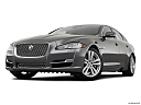 2019 Jaguar XJL Portfolio, front angle view, low wide perspective.