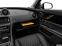 2019 Jaguar XJL Portfolio, glove box open.