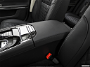 2019 Jaguar XJL Portfolio, front center console with closed lid, from driver's side looking down