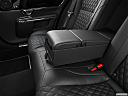 2019 Jaguar XJL Portfolio, rear center console with closed lid from driver's side looking down.
