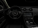 "2019 Jaguar XJL Portfolio, centered wide dash shot - ""night"" shot."
