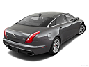 2019 Jaguar XJL Portfolio, rear 3/4 angle view.