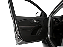 2019 Jeep Cherokee Trailhawk Elite, inside of driver's side open door, window open.