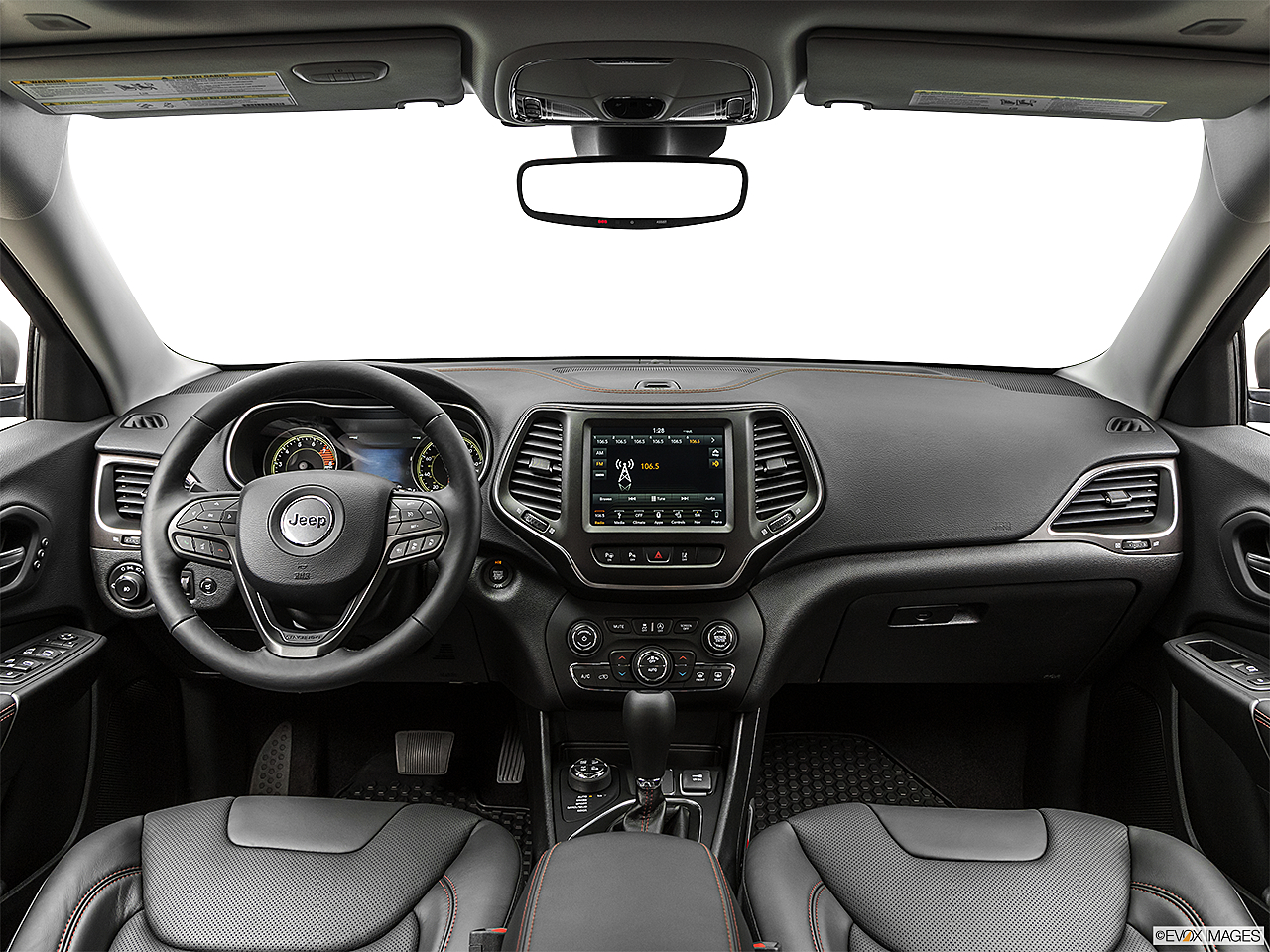 2019 Jeep Cherokee Trailhawk Elite, centered wide dash shot